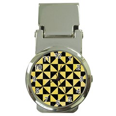 Triangle1 Black Marble & Yellow Watercolor Money Clip Watches