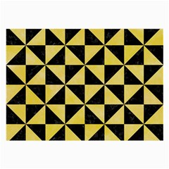 Triangle1 Black Marble & Yellow Watercolor Large Glasses Cloth