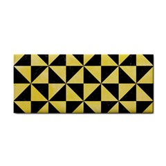 Triangle1 Black Marble & Yellow Watercolor Cosmetic Storage Cases