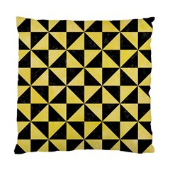 Triangle1 Black Marble & Yellow Watercolor Standard Cushion Case (two Sides)