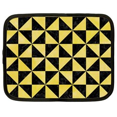 Triangle1 Black Marble & Yellow Watercolor Netbook Case (xxl)