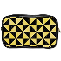 Triangle1 Black Marble & Yellow Watercolor Toiletries Bags