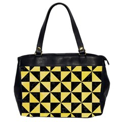 Triangle1 Black Marble & Yellow Watercolor Office Handbags (2 Sides)