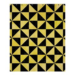 Triangle1 Black Marble & Yellow Watercolor Shower Curtain 60  X 72  (medium)