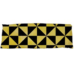 Triangle1 Black Marble & Yellow Watercolor Body Pillow Case Dakimakura (two Sides)