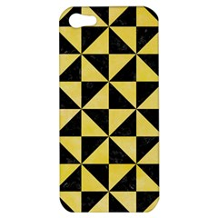 Triangle1 Black Marble & Yellow Watercolor Apple Iphone 5 Hardshell Case