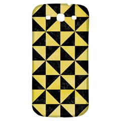 Triangle1 Black Marble & Yellow Watercolor Samsung Galaxy S3 S Iii Classic Hardshell Back Case