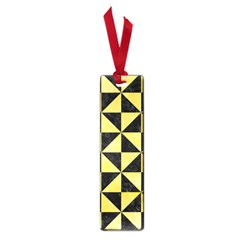Triangle1 Black Marble & Yellow Watercolor Small Book Marks