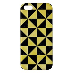 Triangle1 Black Marble & Yellow Watercolor Iphone 5s/ Se Premium Hardshell Case