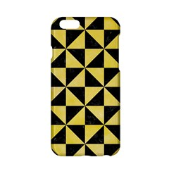 Triangle1 Black Marble & Yellow Watercolor Apple Iphone 6/6s Hardshell Case