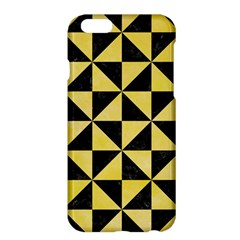 Triangle1 Black Marble & Yellow Watercolor Apple Iphone 6 Plus/6s Plus Hardshell Case