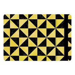 Triangle1 Black Marble & Yellow Watercolor Apple Ipad Pro 10 5   Flip Case
