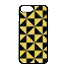 Triangle1 Black Marble & Yellow Watercolor Apple Iphone 8 Plus Seamless Case (black)
