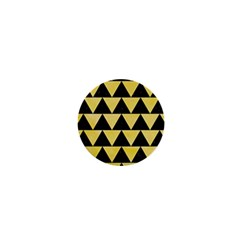 Triangle2 Black Marble & Yellow Watercolor 1  Mini Buttons