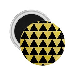 Triangle2 Black Marble & Yellow Watercolor 2 25  Magnets