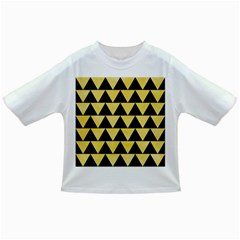 Triangle2 Black Marble & Yellow Watercolor Infant/toddler T Shirts