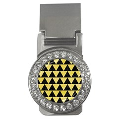 Triangle2 Black Marble & Yellow Watercolor Money Clips (cz)
