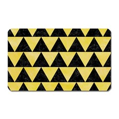 Triangle2 Black Marble & Yellow Watercolor Magnet (rectangular)