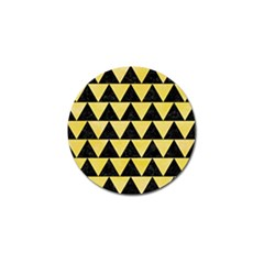 Triangle2 Black Marble & Yellow Watercolor Golf Ball Marker (4 Pack)