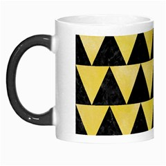 Triangle2 Black Marble & Yellow Watercolor Morph Mugs