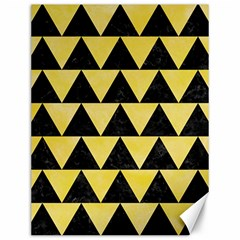 Triangle2 Black Marble & Yellow Watercolor Canvas 12  X 16