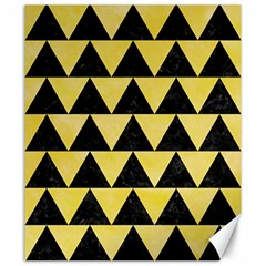 Triangle2 Black Marble & Yellow Watercolor Canvas 20  X 24