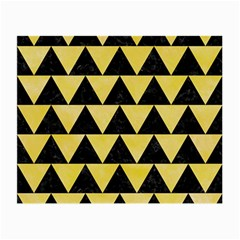 Triangle2 Black Marble & Yellow Watercolor Small Glasses Cloth (2 Side)