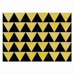 Triangle2 Black Marble & Yellow Watercolor Large Glasses Cloth (2 Side)
