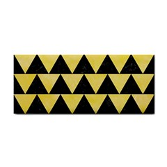 Triangle2 Black Marble & Yellow Watercolor Cosmetic Storage Cases