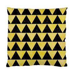Triangle2 Black Marble & Yellow Watercolor Standard Cushion Case (one Side)