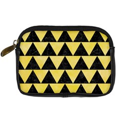 Triangle2 Black Marble & Yellow Watercolor Digital Camera Cases