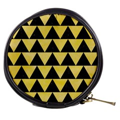 Triangle2 Black Marble & Yellow Watercolor Mini Makeup Bags