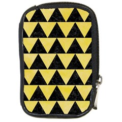 Triangle2 Black Marble & Yellow Watercolor Compact Camera Cases
