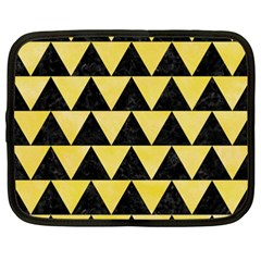 Triangle2 Black Marble & Yellow Watercolor Netbook Case (xxl)