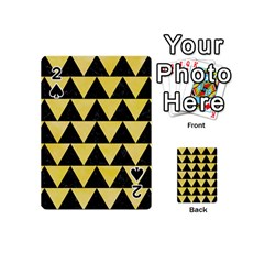Triangle2 Black Marble & Yellow Watercolor Playing Cards 54 (mini)