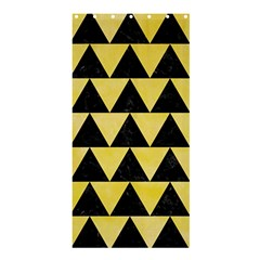 Triangle2 Black Marble & Yellow Watercolor Shower Curtain 36  X 72  (stall)