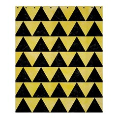 Triangle2 Black Marble & Yellow Watercolor Shower Curtain 60  X 72  (medium)