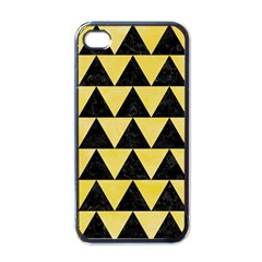 Triangle2 Black Marble & Yellow Watercolor Apple Iphone 4 Case (black)