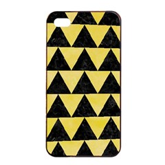 Triangle2 Black Marble & Yellow Watercolor Apple Iphone 4/4s Seamless Case (black)