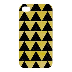 Triangle2 Black Marble & Yellow Watercolor Apple Iphone 4/4s Hardshell Case