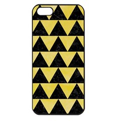 Triangle2 Black Marble & Yellow Watercolor Apple Iphone 5 Seamless Case (black)