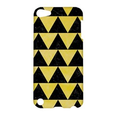 Triangle2 Black Marble & Yellow Watercolor Apple Ipod Touch 5 Hardshell Case