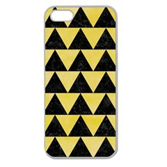 Triangle2 Black Marble & Yellow Watercolor Apple Seamless Iphone 5 Case (clear)