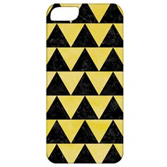 Triangle2 Black Marble & Yellow Watercolor Apple Iphone 5 Classic Hardshell Case