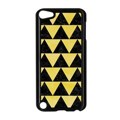 Triangle2 Black Marble & Yellow Watercolor Apple Ipod Touch 5 Case (black)