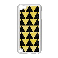 Triangle2 Black Marble & Yellow Watercolor Apple Ipod Touch 5 Case (white)