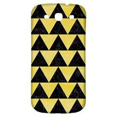 Triangle2 Black Marble & Yellow Watercolor Samsung Galaxy S3 S Iii Classic Hardshell Back Case