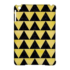 Triangle2 Black Marble & Yellow Watercolor Apple Ipad Mini Hardshell Case (compatible With Smart Cover)