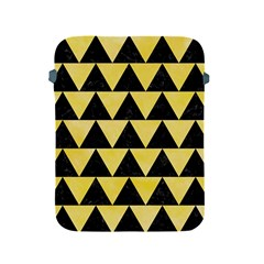 Triangle2 Black Marble & Yellow Watercolor Apple Ipad 2/3/4 Protective Soft Cases