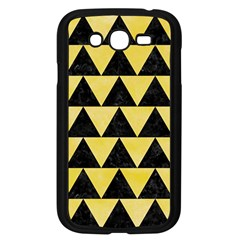 Triangle2 Black Marble & Yellow Watercolor Samsung Galaxy Grand Duos I9082 Case (black)